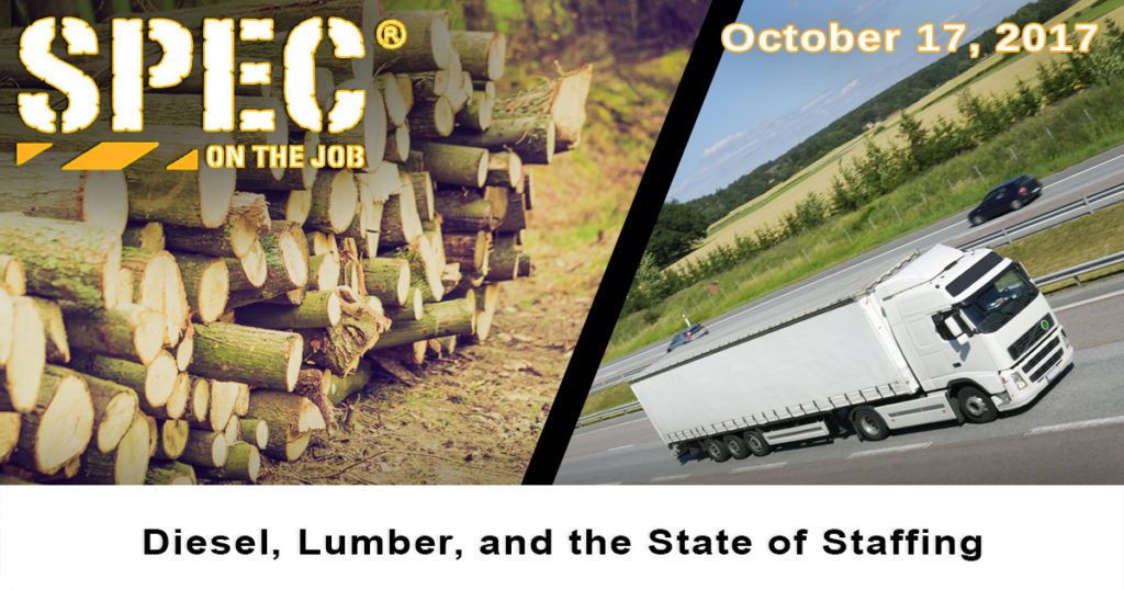 Diesel and lumber prices give a snapshot of the state of staffing in the construction and distribution industries