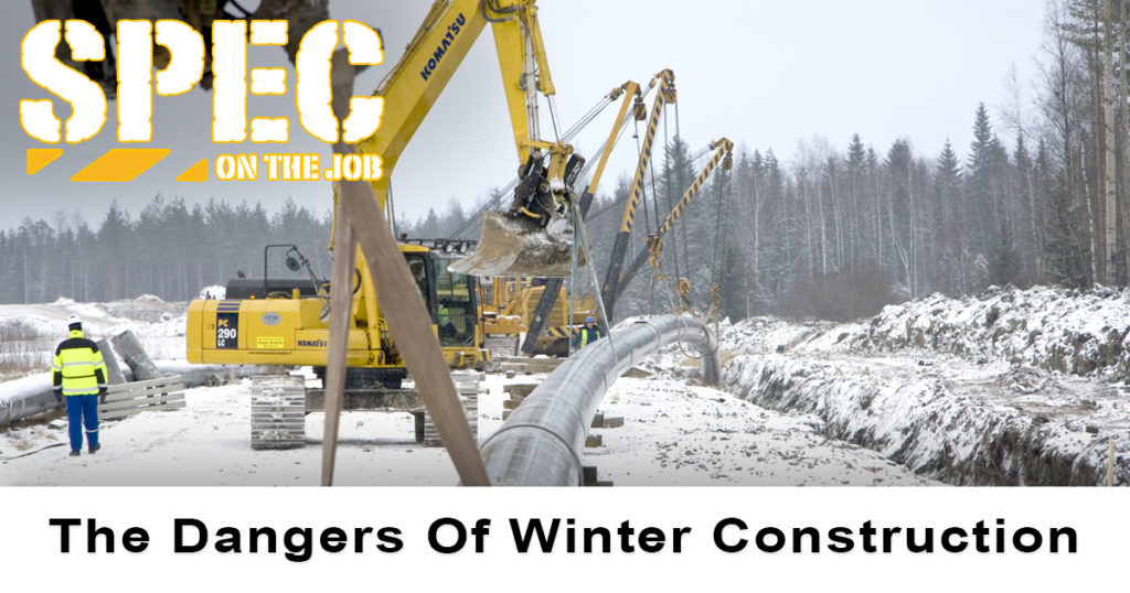 During winter construction, workers need to stay safe when traveling to and from a job site.