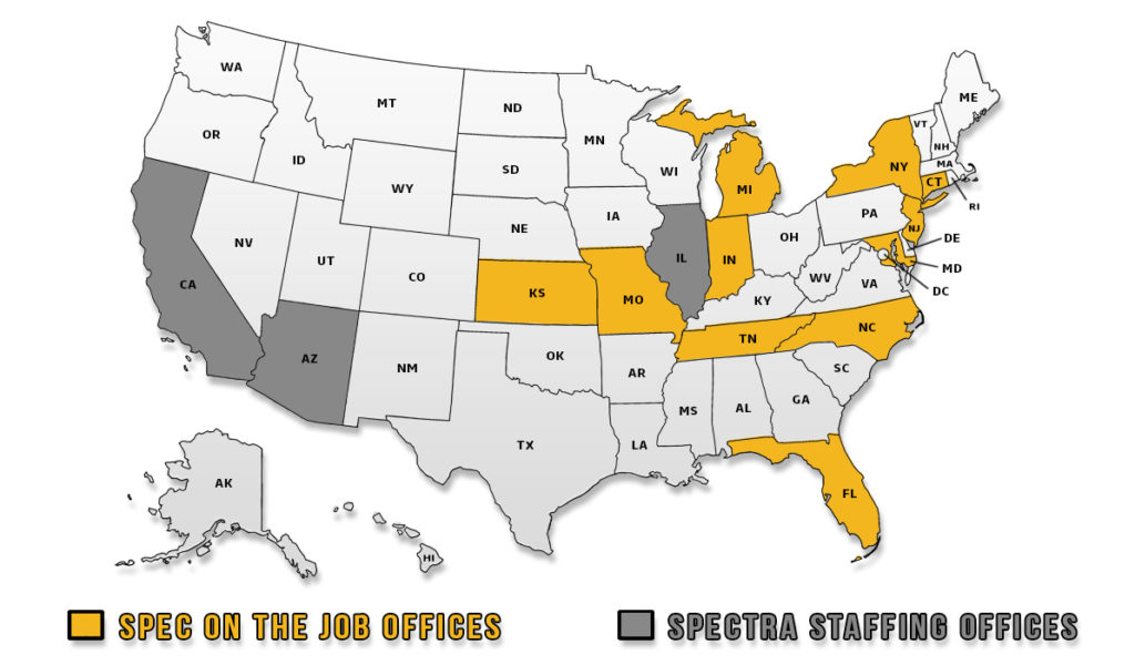 Spec On The Job and Spectra Staffing office locations