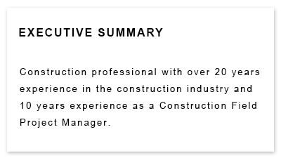 Resume Greatest Hit for a Construction Foreperson position