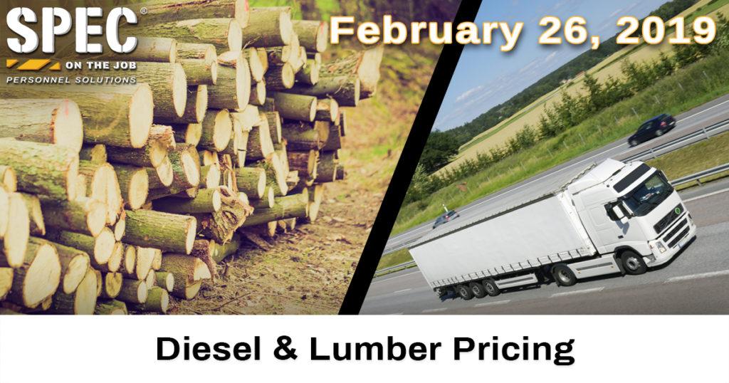 diesel and lumber pricing