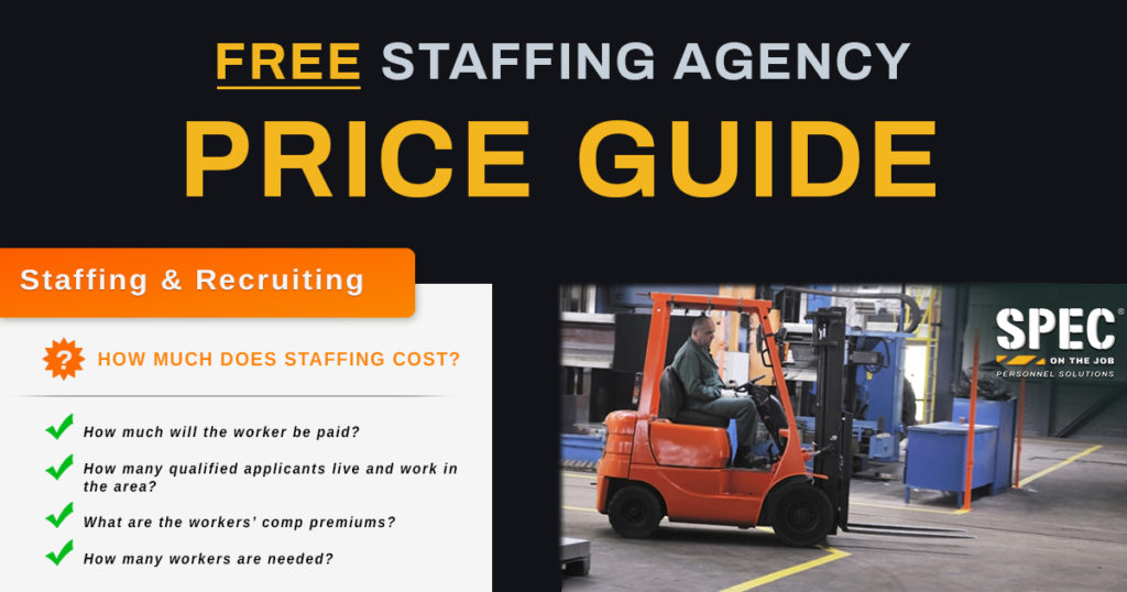staffing agency price guide